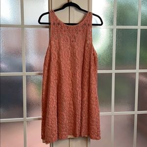 Free People Coral Lace Dress Sz. L